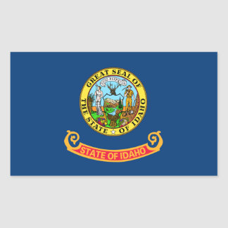 Idaho Flag Rectangular Sticker