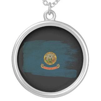 Idaho Flag Round Pendant Necklace