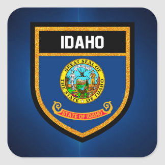 Idaho Flag Square Sticker
