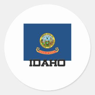 Idaho Flag Round Stickers