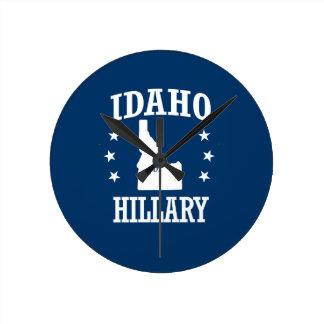 IDAHO FOR HILLARY ROUND CLOCK