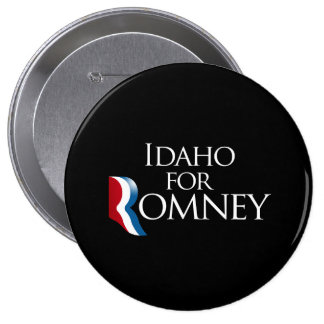 Idaho for Romney -.png Pinback Button