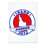 Idaho Fred Karger 5x7 Paper Invitation Card