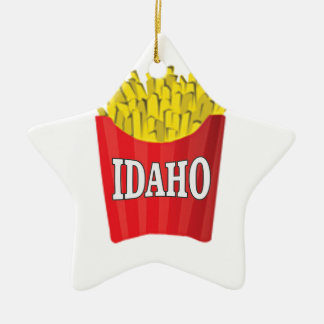 idaho french fries ceramic ornament