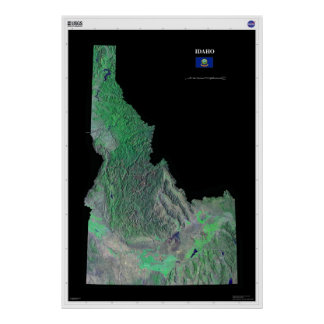 Idaho From Space Poster