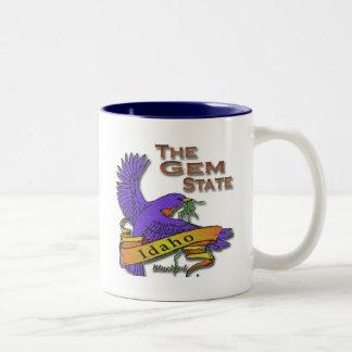 Idaho Gem State Bluebird Coffee Mugs