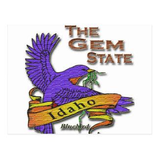 Idaho Gem State Bluebird Postcard