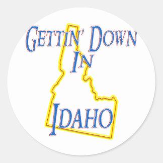 Idaho - Getting abajo Pegatinas Redondas