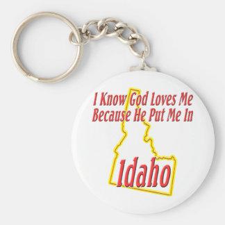 Idaho - God Loves Me Keychain