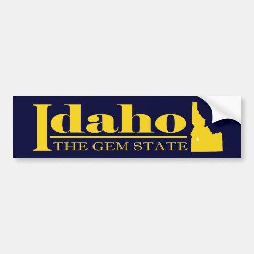 Idaho Gold Bumper Sticker Zazzle
