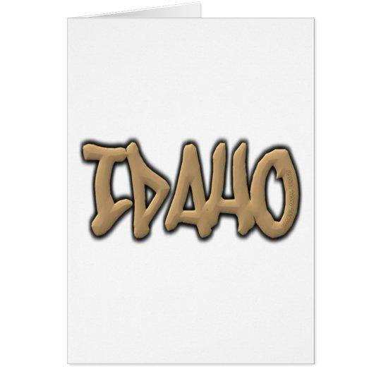 Idaho Graffiti Card