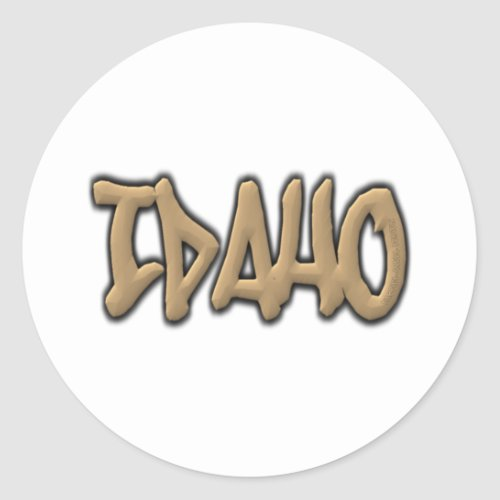Idaho Graffiti Classic Round Sticker