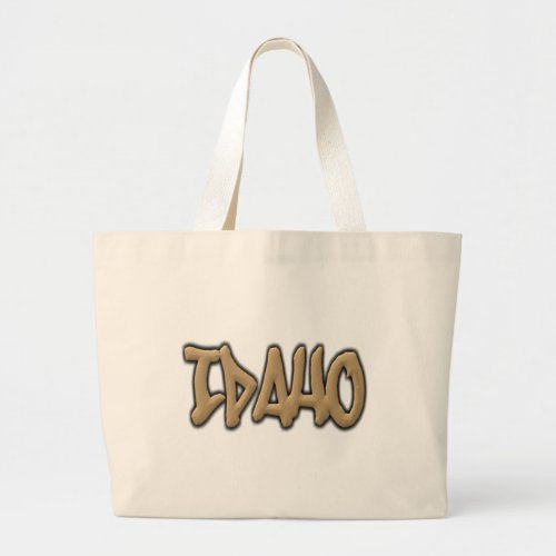 Idaho Graffiti Large Tote Bag