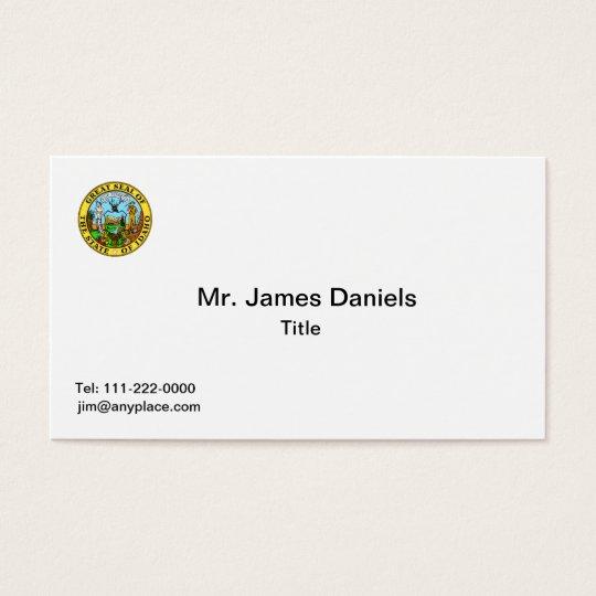 Idaho Great Seal Business Card Templates
