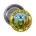 Idaho Great Seal Pinback Buttons