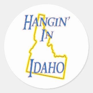 Idaho - Hangin' Classic Round Sticker