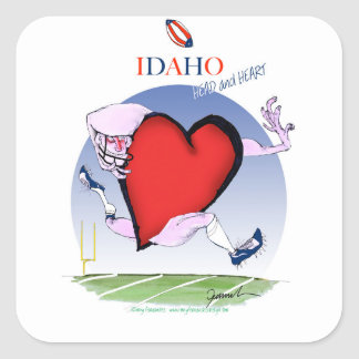 Idaho Head and Heart, tony fernandes Square Sticker