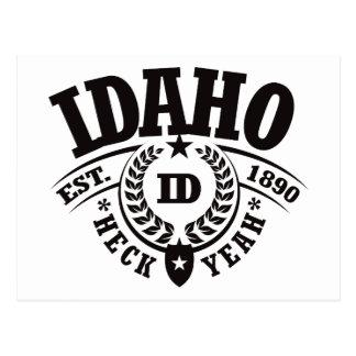 Idaho, Heck Yeah, Est. 1890 Postcard