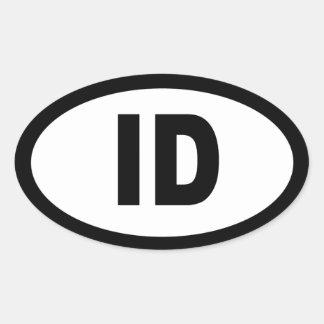 Idaho - hoja de 4 pegatinas ovales del coche