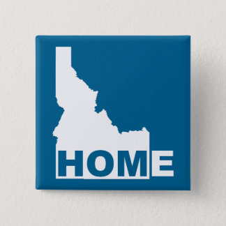 Idaho Home Away From State Button Badge Pin