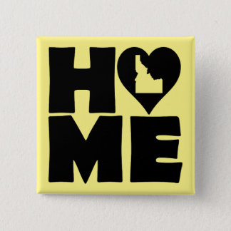 Idaho Home Heart State Button Badge Pin