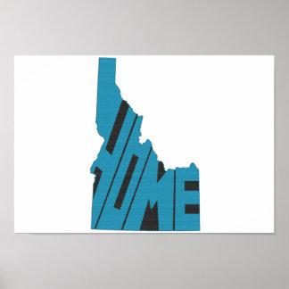 Idaho Home State Poster