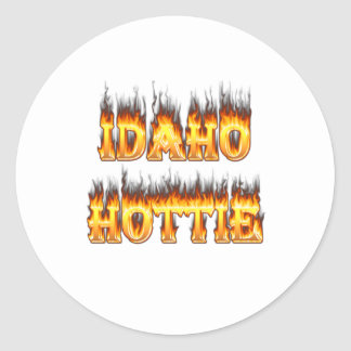 Idaho Hottie fire and flames Stickers