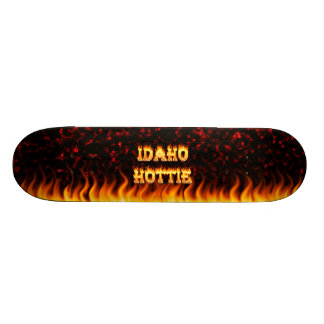 Idaho Hottie fire and red marble heart Skateboard Deck