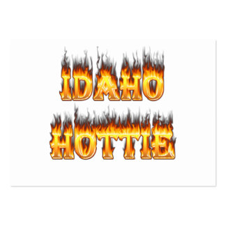 Idaho Hottie Fire Flames Business Cards