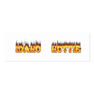 Idaho Hottie Fire Flames Business Card Template