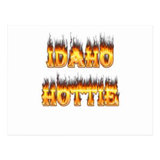 Idaho Hottie Fire Flames Postcard