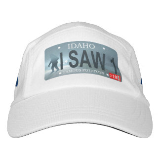 "Idaho ""I Saw 1"" Sasquatch License Plate Hat"