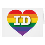 Idaho ID rainbow pride heart Cards