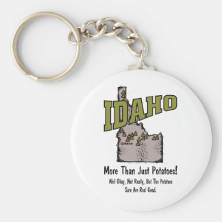 Idaho ID US Motto ~ More Than Just Potatoes Basic Round Button Keychain