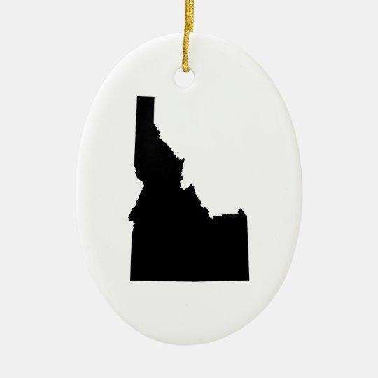 Idaho in Black Ceramic Ornament