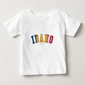 Idaho in state flag colors baby T-Shirt