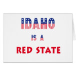 Idaho is a Red State Card