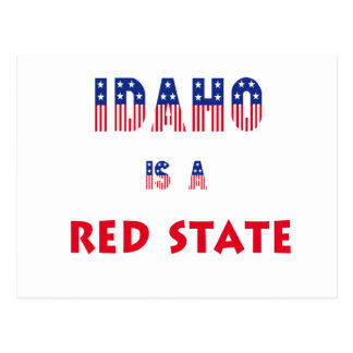 Idaho is a Red State Postcard