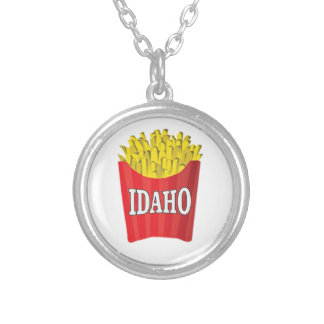 Idaho junk food silver plated necklace