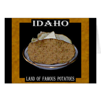 "Idaho ""Land of Famous Potatoes"". Card"