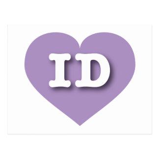 Idaho Lavender Heart - Big Love Postcard