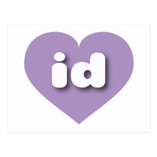 idaho lavender heart - mini love postcard