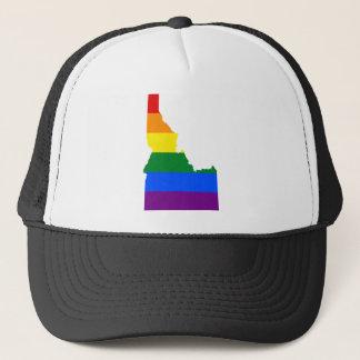 Idaho LGBT Flag Map Trucker Hat