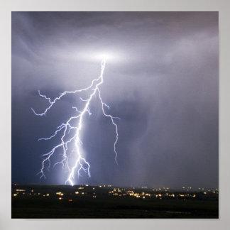 Idaho lightning poster
