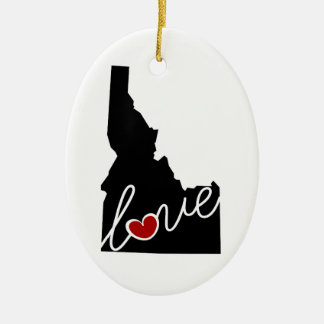 Idaho Love!  Gifts for ID Lovers Ceramic Ornament