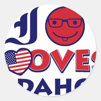 Idaho lover design classic round sticker
