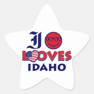 Idaho lover design star sticker