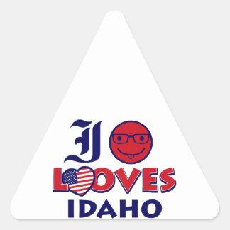 Idaho lover design triangle sticker