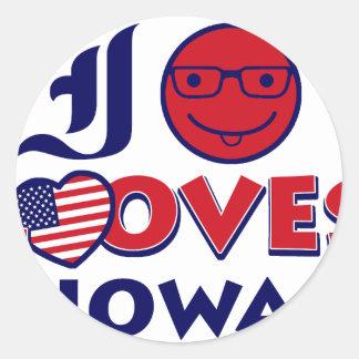 Idaho lovers Design Classic Round Sticker