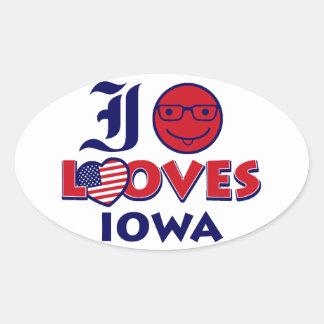 Idaho lovers Design Oval Sticker